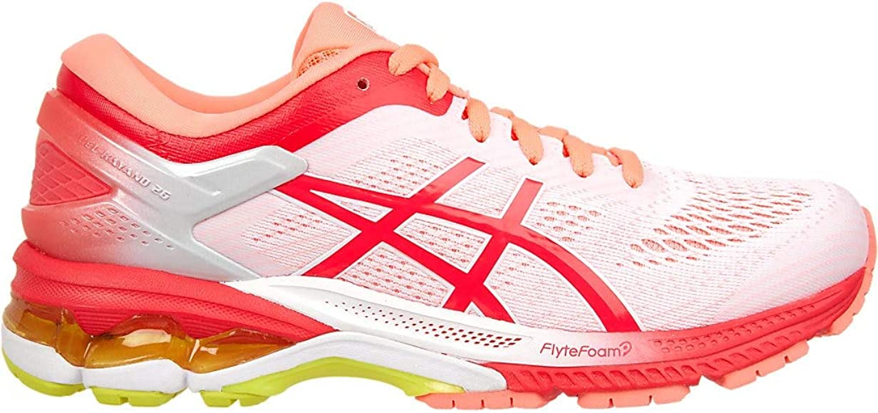 ASICS Gel-Kayano 26 Kai Zapatillas de correr para mujer 1011A636, Blanco (Blanco/Rosa Láser), 36 EU: Amazon.es: Zapatos y complementos
