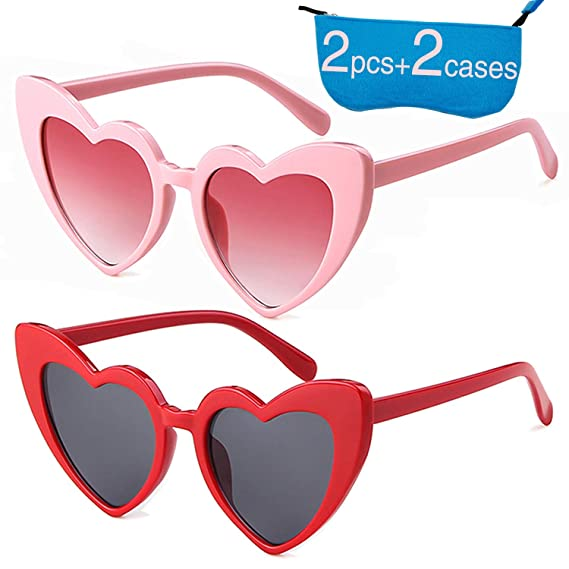 002a19f7e1803 Heart Sunglasses Clout Goggle Retro Vintage Cat Eye Mod Style for Women  Kurt Cobain Glasses (