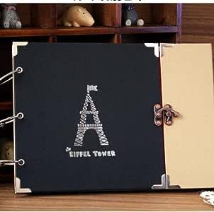BVYO Álbum de 10 Pulgadas DIY Hojas Sueltas Scrapbooking
