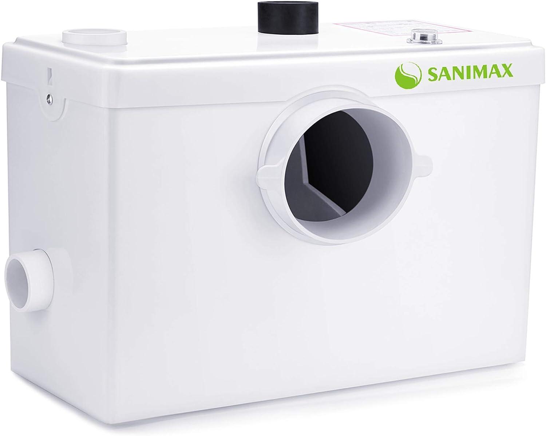 Sanimax Sani600 Hebeanlage Abwasser Haushaltspumpe Fäkalienpumpe für WC - Kleinhebeanlage Test