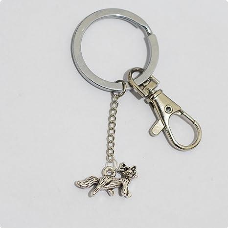 Llavero con diseño de Fox, Pequeño Personalizado collar ...