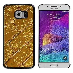 LECELL--Funda protectora / Cubierta / Piel For Samsung Galaxy S6 EDGE SM-G925 -- Bar Pattern Shiny Metal --