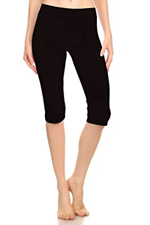 bc6a9a2b5e711 Women Stretch Capri Active Crop Cotton-Spandex Leggings Tights ( Plus) (2X-
