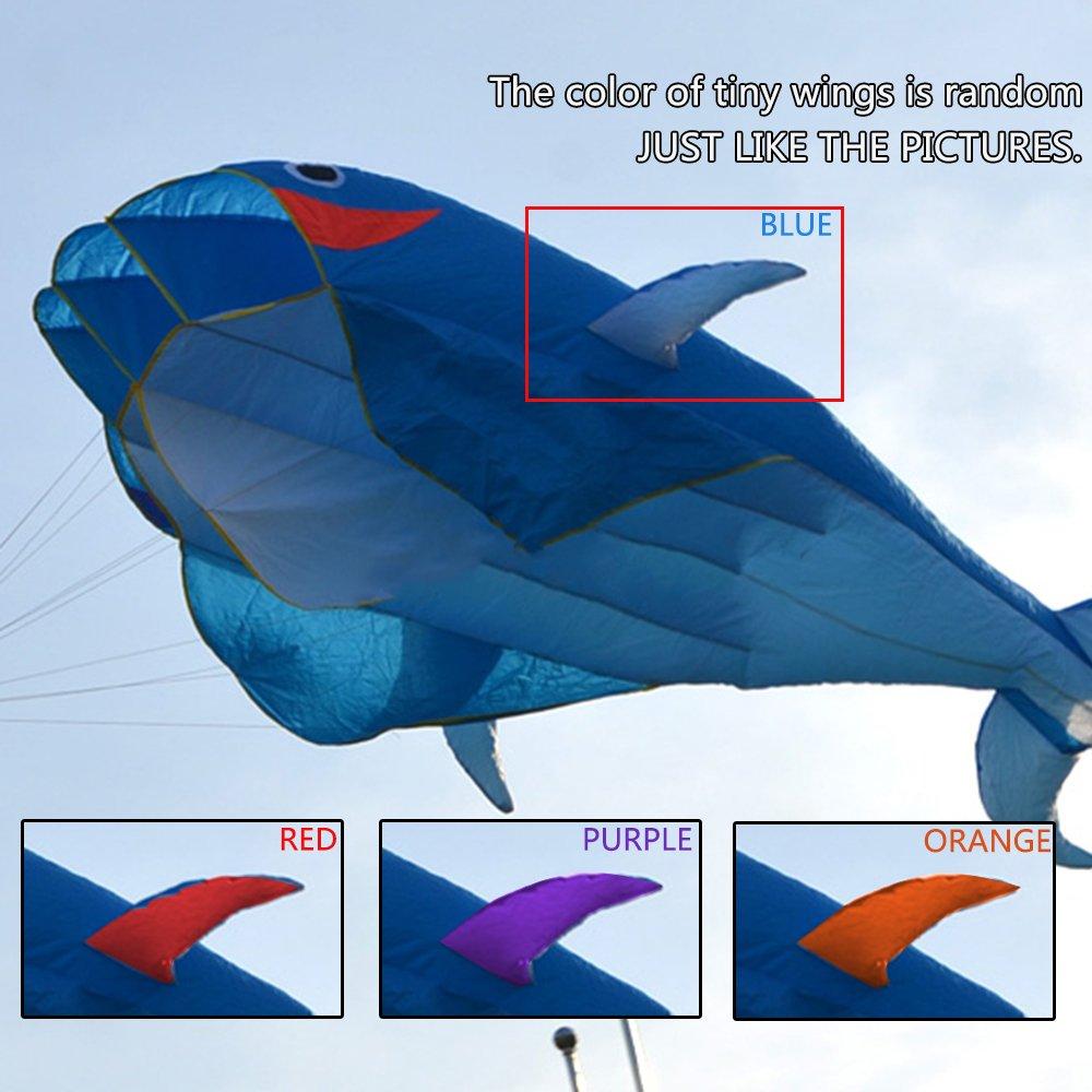 amazon com image 3d kite huge frameless soft parafoil giant red