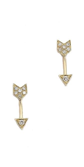 EF Collection Mini Diamond Arrow Single Stud Earring 1SkDzIgJX