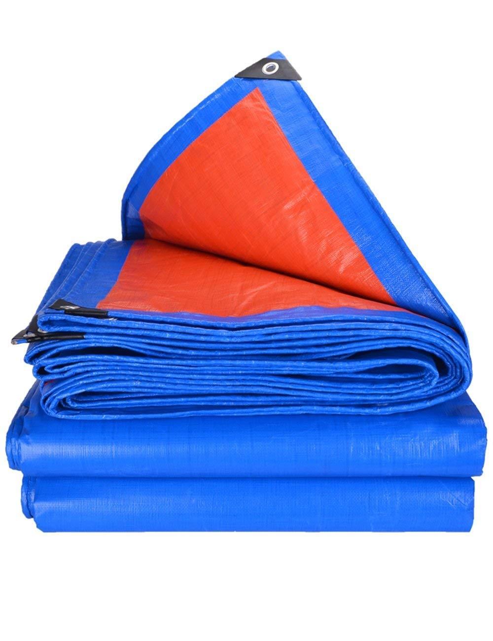DLyng 青いオレンジのPEの保護ターポリン軽量タフのテントは、多くのサイズでキャンプ (Size : 5m*6m) 5m*6m  B07H1D9WM4