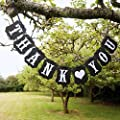 Pixnor Rectangle Chic Thank You Wedding Bunting Banner Photo Booth Garland Props Anniversary Bridal Party Decoration