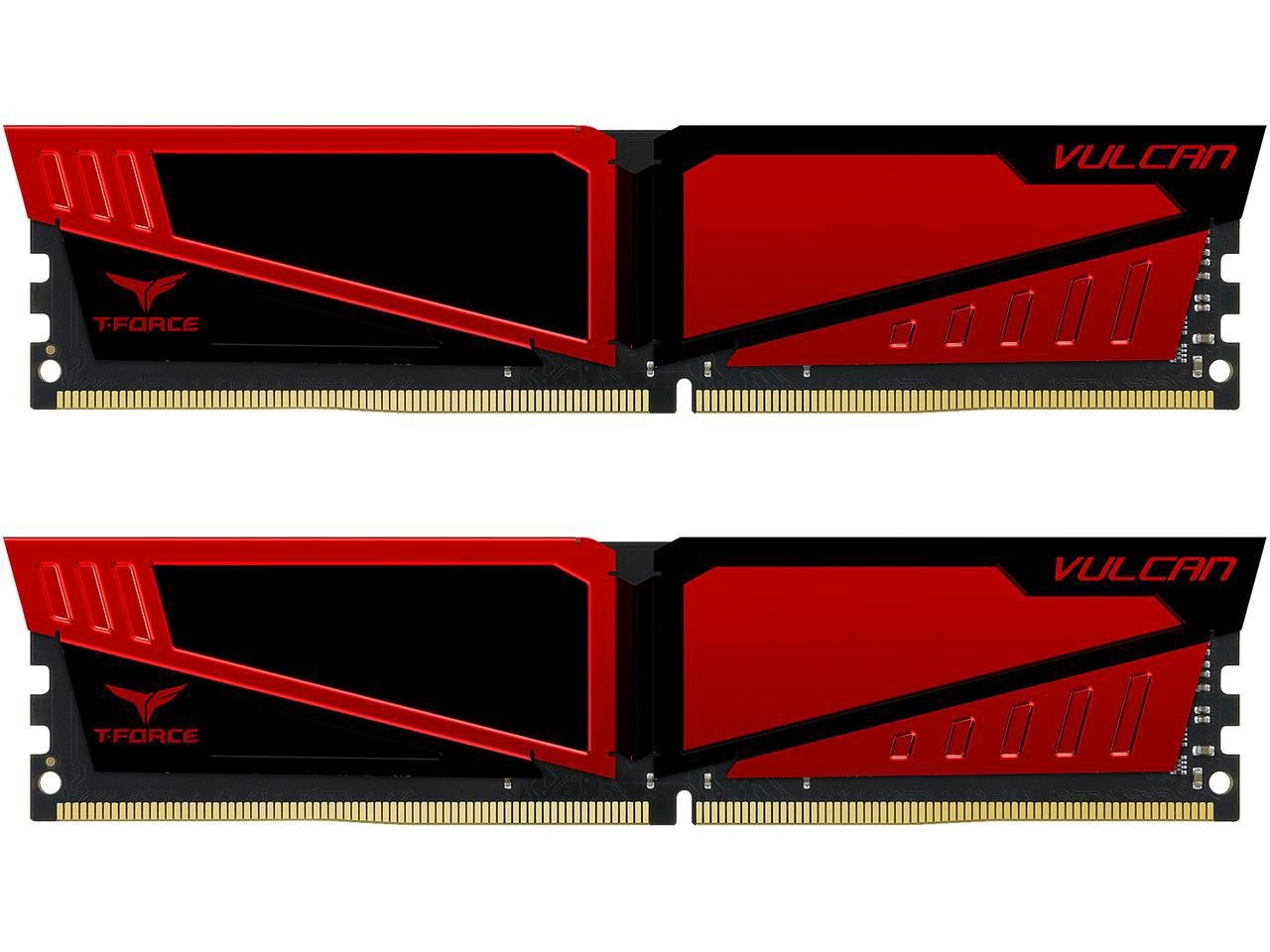 Team Group Vulcan DDR4-2400 16GB Module de mémoire 16 Go 2400 MHz - Modules de mémoire (16 Go, 2 x 8 Go, DDR4, 2400 MHz, 288-pin DIMM, Rouge)