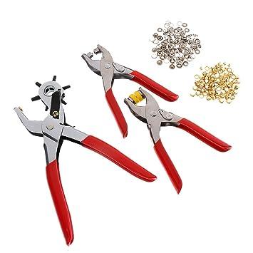 Gazechimp Conjunto de Perforadora Giratoria Alicates para Ojales Presión Botones Herramientas Manual: Amazon.es: Bricolaje y herramientas