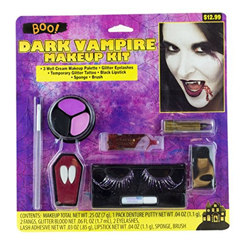 [Halloween Female Dark Vampire Makeup Kit (2 PACK)Horror Trick or Treat Costume Accessory FX] (Female Vampire Makeup)