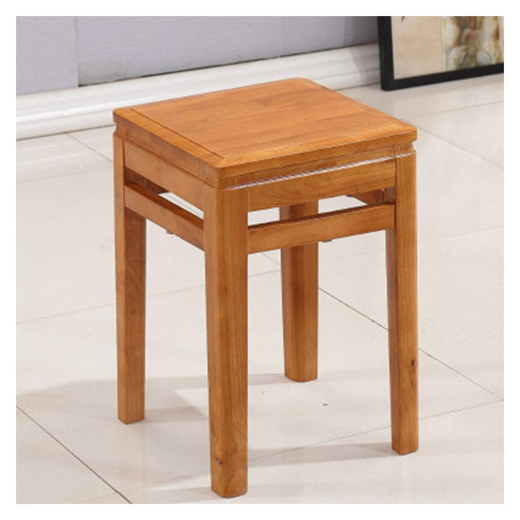 A B.YDCM Wooden Bench- Creative Small Bench Square Stool Low Square Square Guzheng Dressing Stool Chair Modern - Wood Bench (color   A)