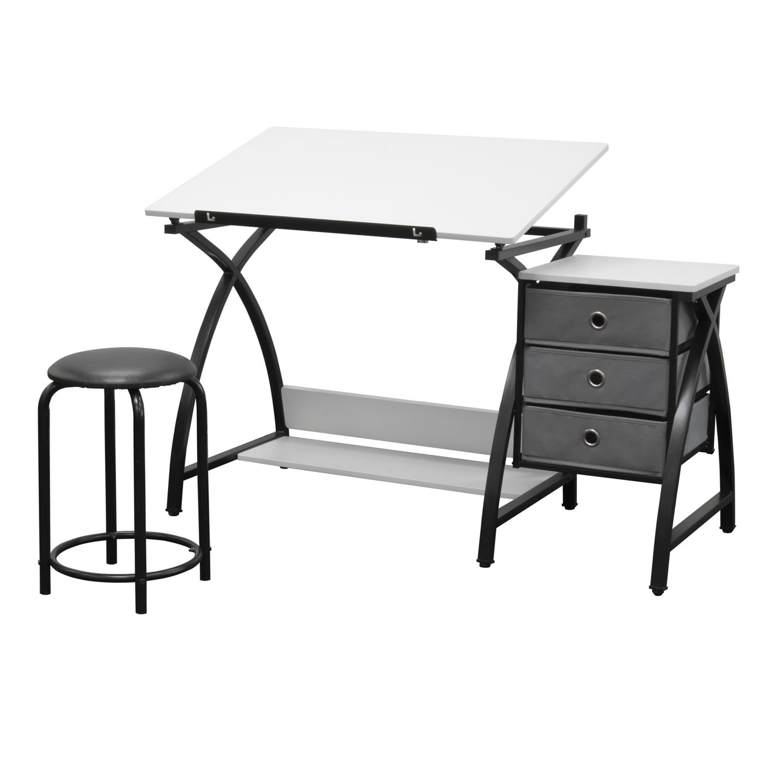 Studio Designs 13326 Comet Center with Stool, Black/White by SD STUDIO DESIGNS (Image #1)