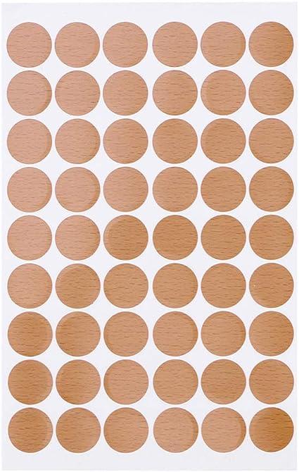 Yardwe Tappi di Copertura a Vite adesivi Tappi coprivite autoadesivi 54 pezzi