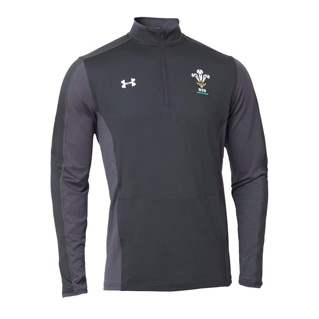 2018-2019 Wales Rugby WRU 1/4 Zip Training Top (Black) Kids B076V6HGHLBlack Large Boys 30-32\