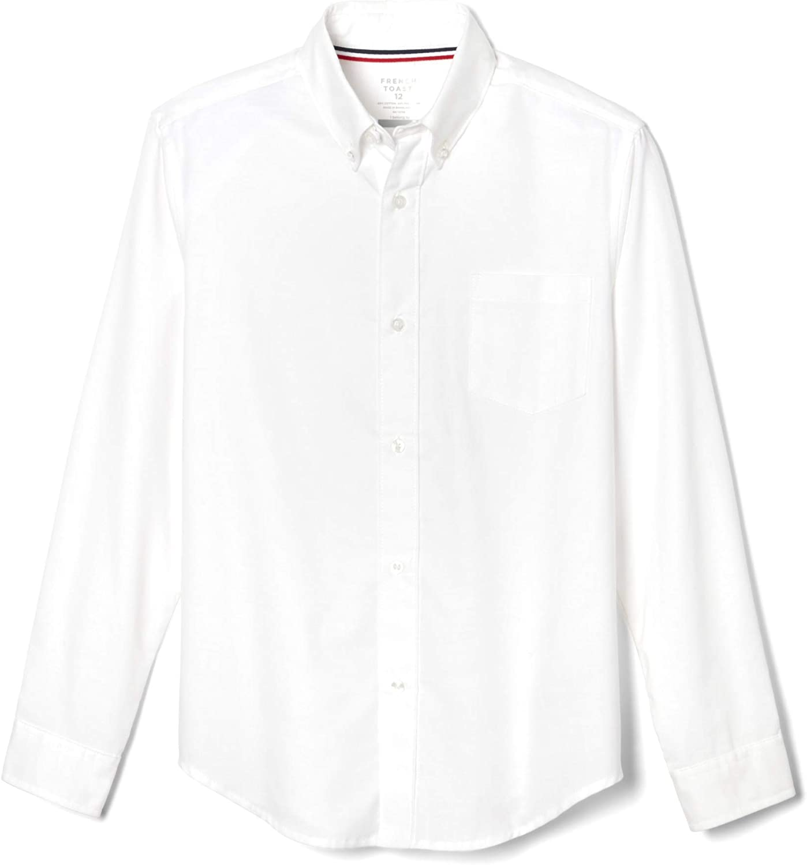 French Toast Boys' Long Sleeve Oxford Shirt (Standard & Husky)