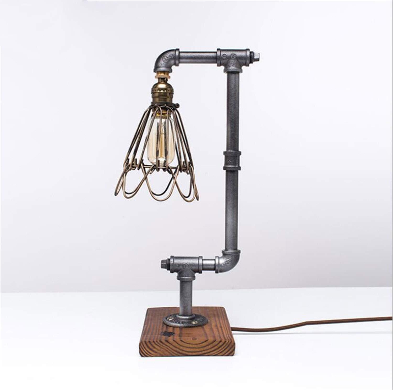 NUO-Z Lámpara de Mesa Loft Industrial Feng Shui Tube Lamp American ...