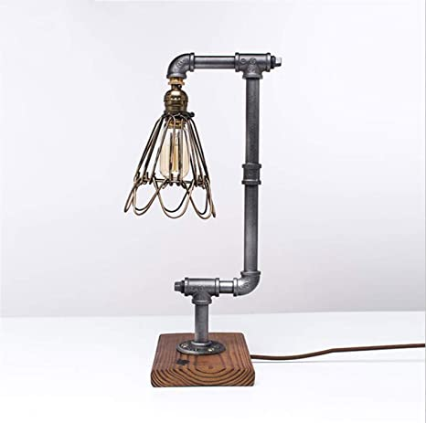 Lámpara de Mesa Loft Industrial Feng Shui Tube Lamp American Retro ...