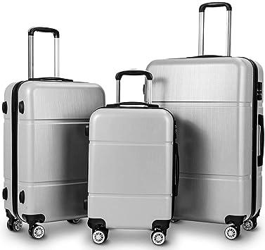 "Secure TSA Lock Trolley Telescopic Handle Suitcase PC Luggage 20 24 28/"" Unisex"