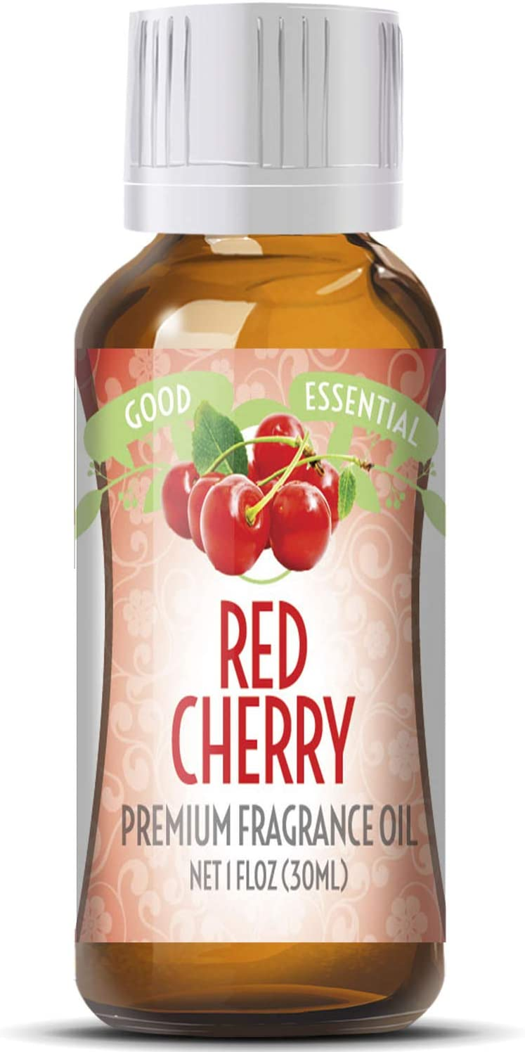 Red Cherry Scented Oil by Good Essential (Huge 1oz Bottle - Premium Grade Fragrance Oil) - Perfect for Aromatherapy, Soaps, Candles, Slime, Lotions, and More!