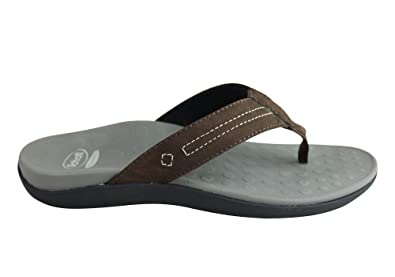 c7a457d1cea Scholl Orthaheel Bermuda Mens Comfortable Leather Supportive Thongs - Size   12 AUS - Color