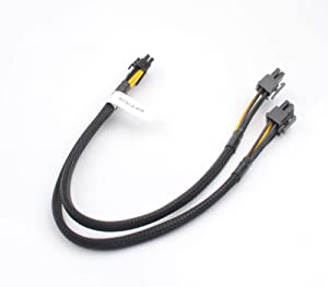 CPU 8 Pin Male to Dual 8 Pin(6+2) Male PCIe Power Adapter Cable for Dell PowerEdge R720 720XD R730 and NVIDIA Tesla GPU J30DG 15-inch(38cm)