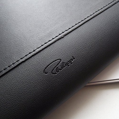 Philippi Giorgio 128074 Document Folder Leather/Stainless Steel 35 x 24 x 2.5 cm Black