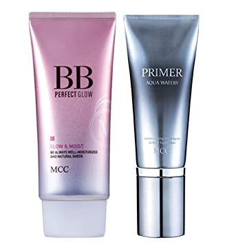 Amazon.com: MCC Juego de Aqua watery Prime + brillo BB Cream ...