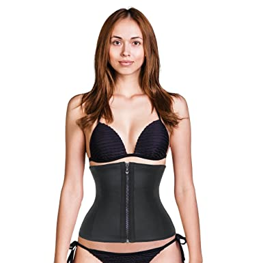 09e1b1013fe The Clip   Zip Waist Trainer by Cady - T P Waist Trainers for Women -  Black