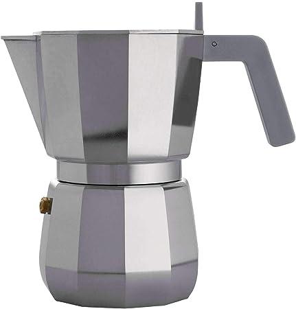 Alessi Cafetera espresso, Gris, 6 tazas, 1