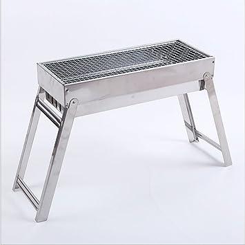 BBQ Barbacoa al aire libre, parrilla plegable, estufa de picnic portátil (Tamaño : 50*20*35.5): Amazon.es: Hogar