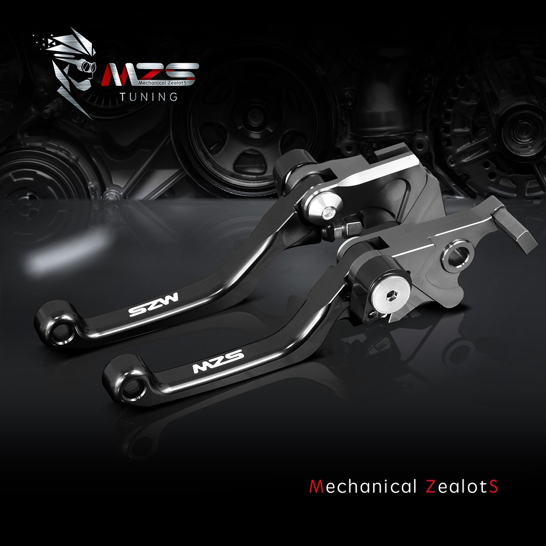 MZS Pivot Levers Pivot Brake Clutch Foldable CNC Blue compatible Yamaha YZ125 YZ250 YZ250F YZ426F YZ450F 2001 2002 2003 2004 2005 2006