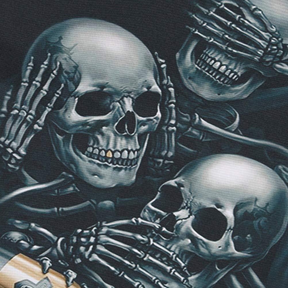 30 x 39 cm dise/ño de calaveras Mochila de Halloween Amosfun