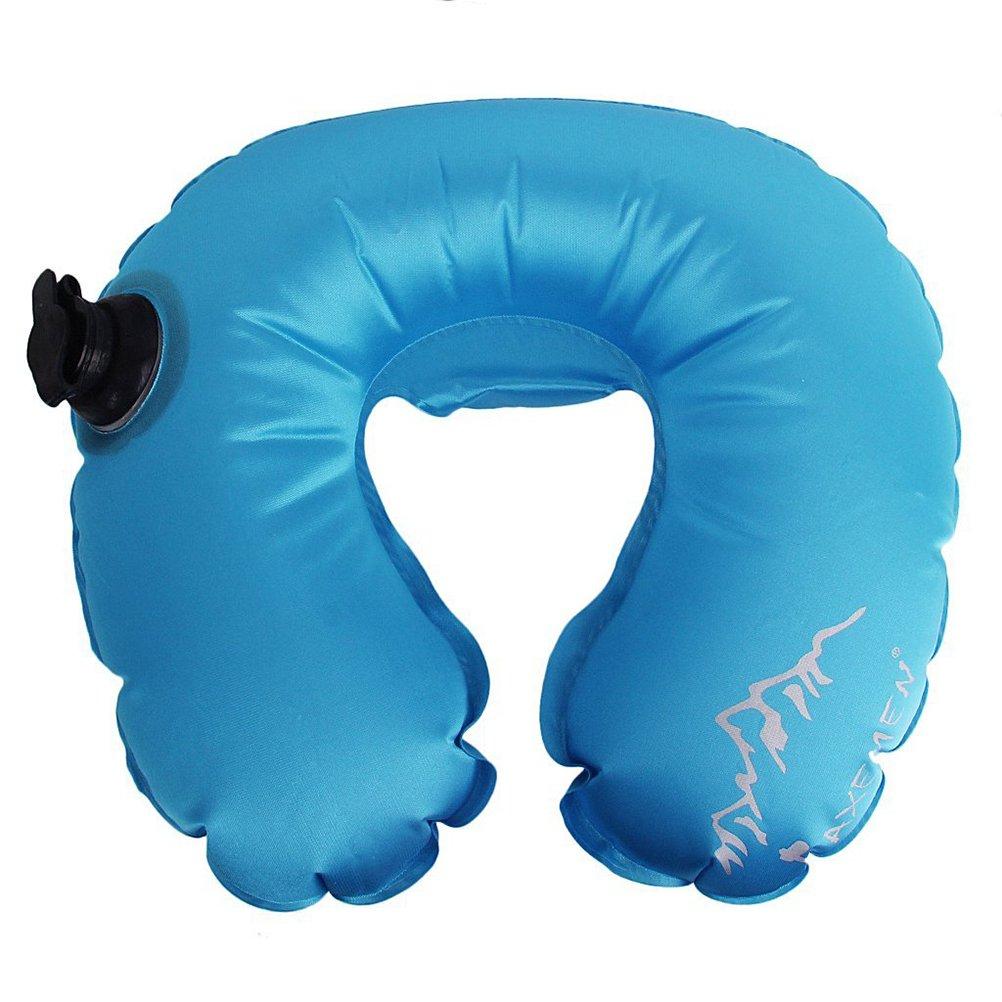 LEORX旅行枕 – 防水インフレータブルのU型空気枕キャンプネッククッション(スカイブルー) B01KTKBRBG