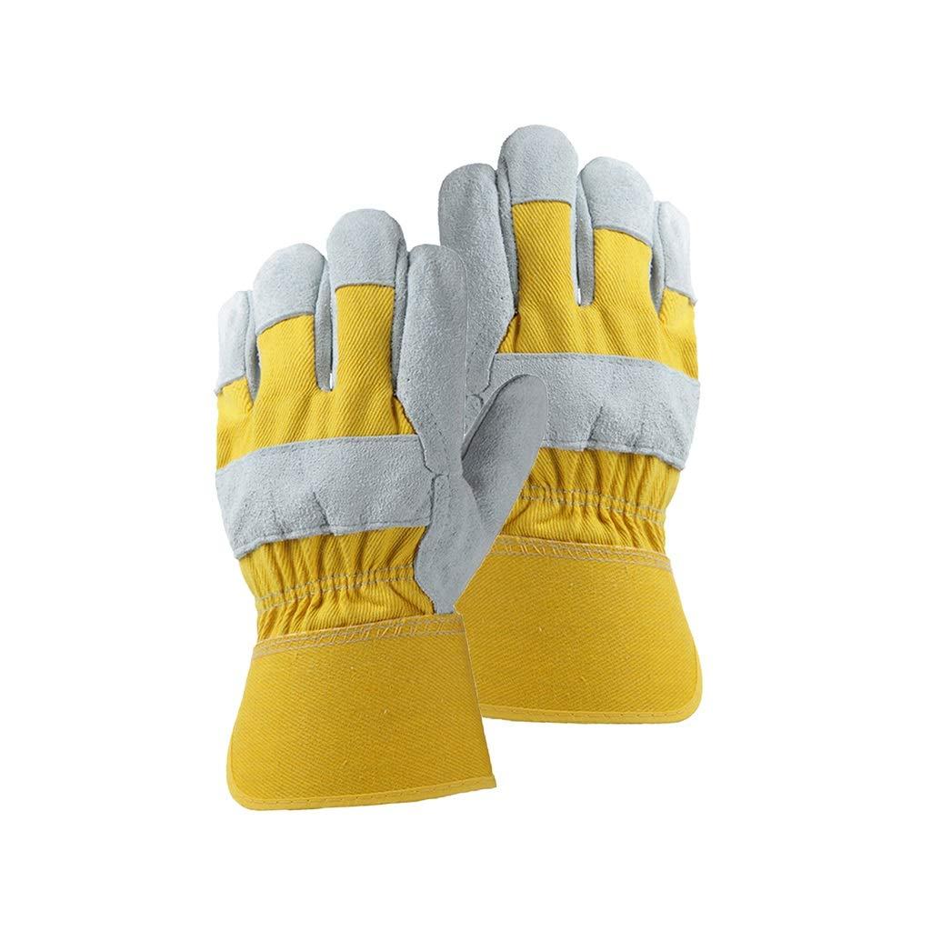 FYCZ Handschuh Schweißhandschuhe, Lederschutzverdickung Verschleißfeste Hochtemperatur