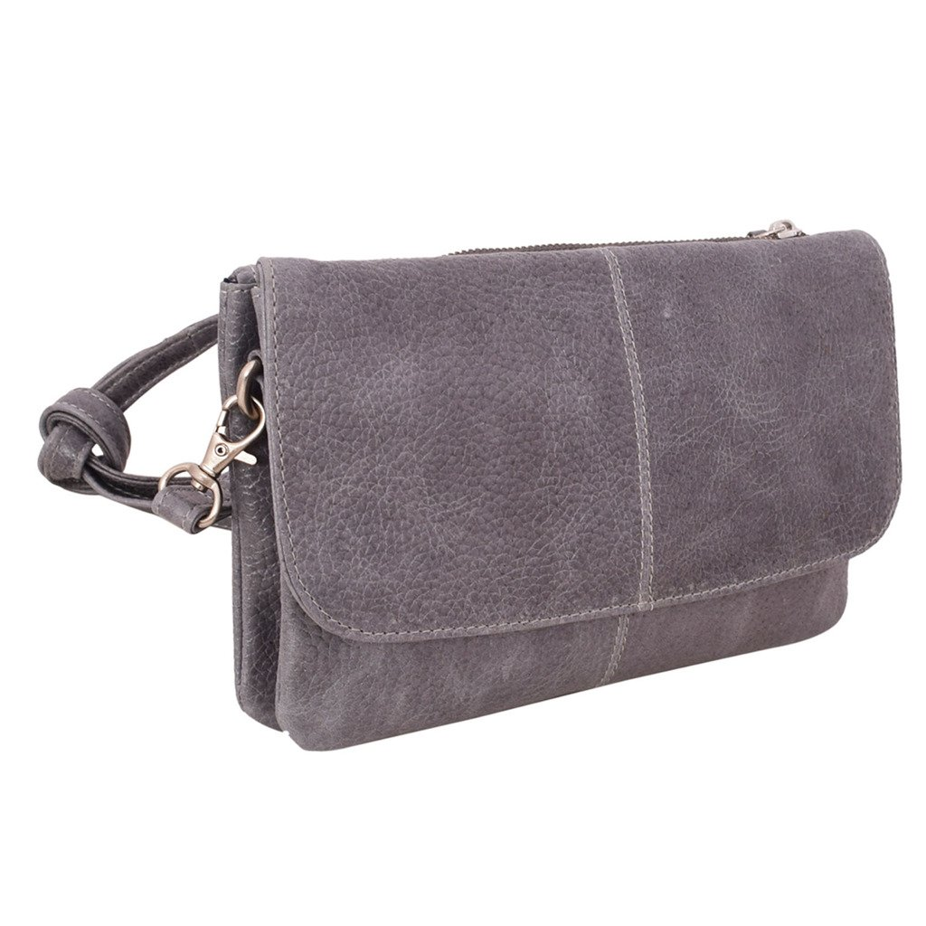 Latico Leathers Lidia Cross Body Bag Genuine Authentic Luxury Leather, Designer Made, Business Fashion and Casual Wear, Pebble Denim