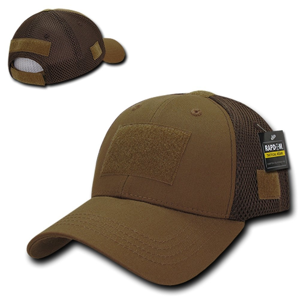 Rapid Dominance Low Crown Air Mesh Tactical Cap With Loop Patch - Coyote