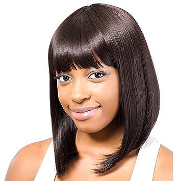 Amazon Com Maysu Shoulder Length Wigs Mixed Real Human Hair