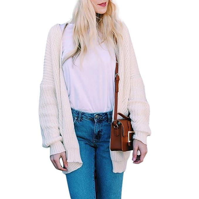 ❤ Cardigan Mujeres, Moda Manga Larga Suelta Suéter Suelto Suéter Abrigo Abrigo: Amazon.es: Ropa y accesorios