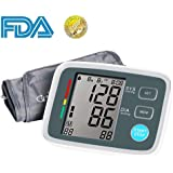 Automatic Upper Arm Digital Blood Pressure Monitor FDA Approved with Adjustable Large Cuff, Accurate Electronic BP Machine, 90 Groups Memory, Large LCD Screen