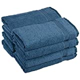 Superior Luxurious Soft Hotel & Spa Quality Hand Towel Set of 8, Made of 100% Premium Long-Staple Combed Cotton - Sapphire, 16
