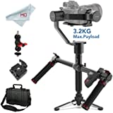 MOZA Air 3-Axis Handheld Gimbal Stabilizer for DSLR and Mirrorless Camera, with Moza Thumb Controller and Dual Handle, i.e. Sony A7, Panasonic GH5/4/3, Canon 5D