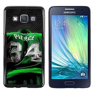 Pierce 34 - Metal de aluminio y de plástico duro Caja del teléfono - Negro - Samsung Galaxy A3