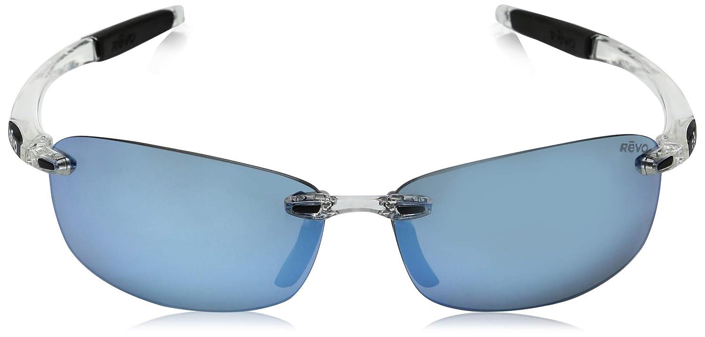 Revo Descend E Re4060gf Polarized Rectangular Sunglasses 64 mm Revo Sunglasses RE 4060GF Crystal