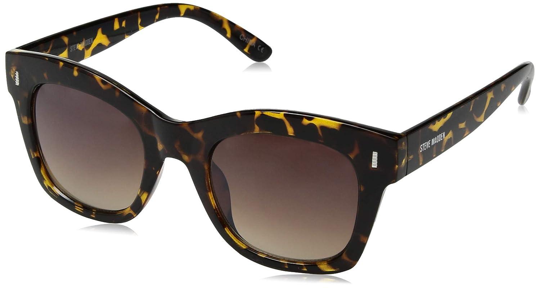 Steve Madden Women's Sm863141 Square Sunglasses Tortoise 50 mm