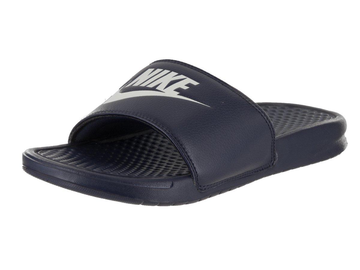 168a37545 Nike Benassi JDI Slide Navy White  Amazon.com.au  Fashion