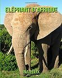 Eléphant d'Afrique: Le livre des Informations Amusantes pour Enfant & Incroyables Photos d'Animaux Sauvages – Le Merveilleux Livre des Eléphant d'Afrique pour enfants âgés de 3 à 7 ans