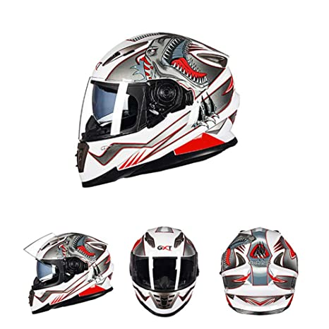 Oztklife Moto Crash Casco Modular Alta Seguridad-GXT Full Face Racing Casco De Moto con
