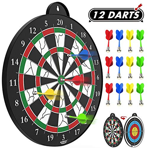 Learn More About STREET WALK Magnetic Dart Board - 12pcs Magnetic Dart - Excellent Indoor Game and P...