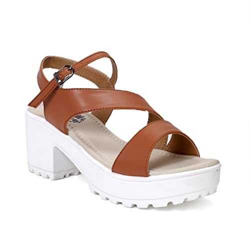 2ec319e41182 meriggiare Women Black Block Heel Party PU Sandals  Buy Online at Low Prices  in India - Amazon.in