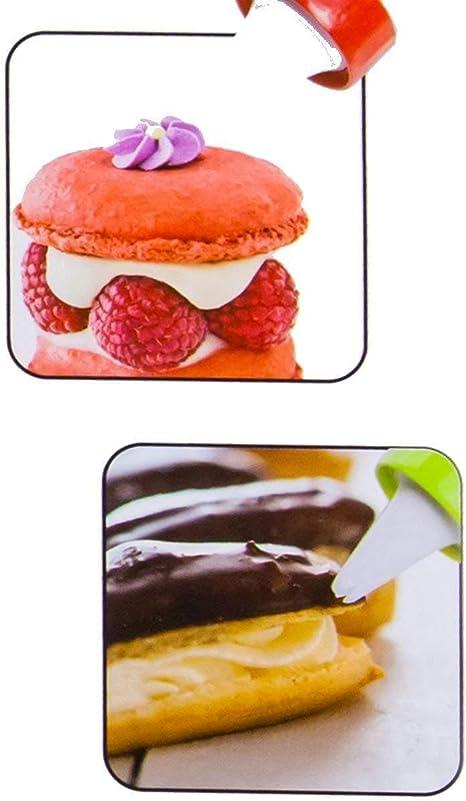 Jeringa para Decorar Pasteles de Acero Inoxidable/ /Prensa para Galletas /&/ /Garnier Jeringa con 13/Plantillas y 8/boquillas Faneli Accesorio de horneado para Tartas Jeringa